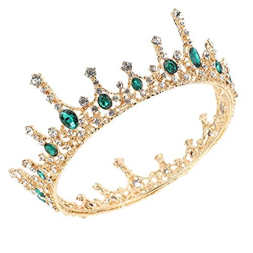 Minkissy Vintage Barroco de Boda Tiara de Diamantes de Imitación de Novia...