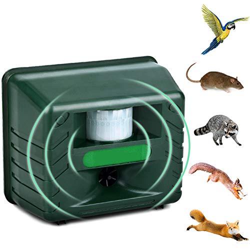 HZYYZH Repelente para Gatos, Pájaro ultrasónico de manejo de Animales, Dispositivo de manejo de ratón, Ajustable en Varios Modos, Frecuencia ultrasónica Ajustable