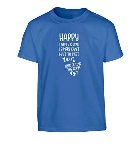 Flox Creative Father's Day Love Bump T-shirt pour enfant - Bleu - Small