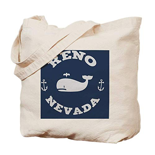 Cloth Shoulder Grocery Shopping Bags, Souv Whale Reno BUT Natural Canvas Tote Bag, Cloth Shopping Bag