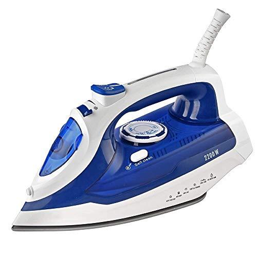 MEETGG Hierro eléctrico Potente vapor spray control de emperatura, mano mini, placa inferior de cerámica, para planchar ropa