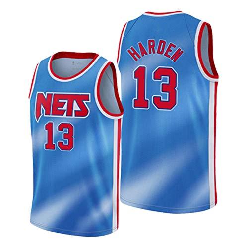 LLLS 2021 Season Nets# 13 Jersey de manga de la edición de la ciudad, chaleco transpirable de secado rápido, swingman bordado, los mejores regalos para los aficionados, blanco/negro azul cielo azul-L