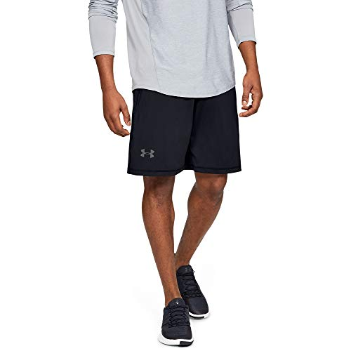 Under Armour Men's Raid 10-inch Workout Gym Shorts , Black (001)/Graphite , Medium