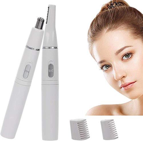 Trimmer per capelli per orecchie e naso, 2 in 1, rimozione dei peli delle sopracciglia, depilatore per sopracciglia e viso, impermeabile IPX7, rasoio elettrico per uomini e donne, testa taglierina
