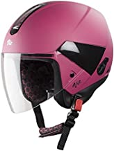Steelbird Hi-Gn SBH-5 VIC Open Face Helmet with Plain Visor (Female, Matt Magenta, M)