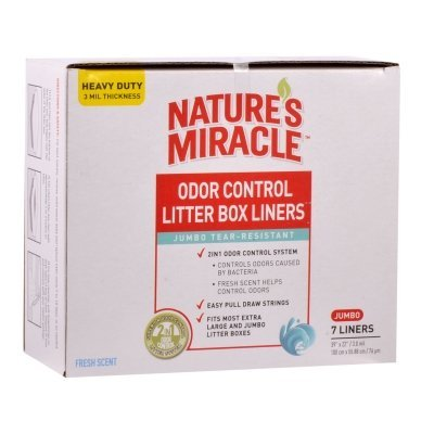 Nature's Miracle Odor Control Jumbo Litter Box Liners, 7 Count