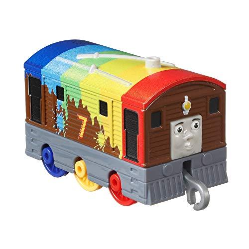 Thomas & Friends- Locomotiva di Metallo, Personaggio Toby Arcobaleno, Giocattolo per Bambini 3+ Anni, GYV65