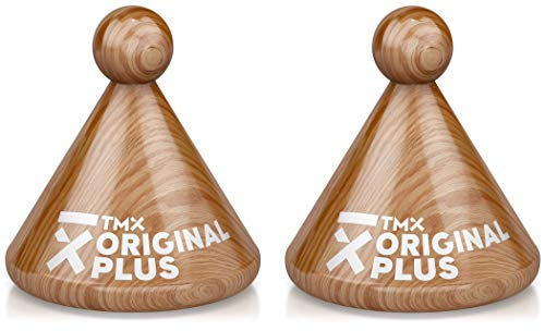 TMX Trigger Original Plus Set, Massagegeräte zur Triggerpunkt-Behandlung, punktuelle Akupressur, Muskelverhärtungen selbst lösen, Faszien triggern, aus Buchenholz, 2 x natur