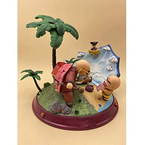 QTRT Carácter Maestro Roshi y Krilin PVC Juego de Dragon Ball/Historieta del Anime Regalos Modelo Estatua Figura de Juguete coleccionables Decoraciones Favorita por Fan del Animado