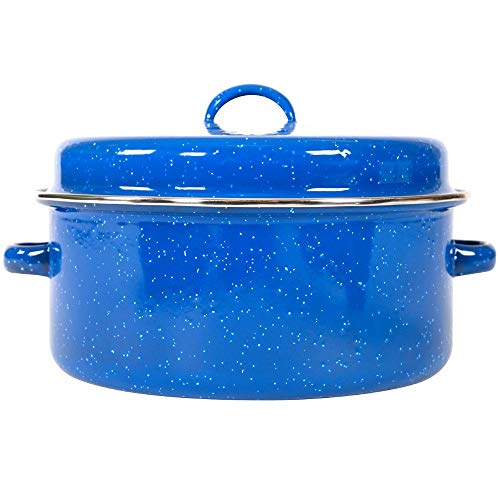 Enamel Cooking Pots Blue Camping Picnic Rv Good Cookware Basic Lid Roasting Pan Cook Best Quick Cooking Kitchen Backpacking Survival Hiking Camp Travel Outside Inside Fast And eBook By NAKSHOP