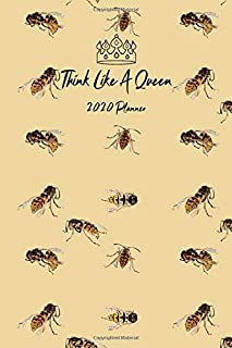 Think Like A Queen: Monthly And Weekly Agenda Schedule Organizer Planner With Spread Views Calendar To-do List Goals Holiday Dates And Notes Pages Bees Pattern Sunlight Yellow Design Cover