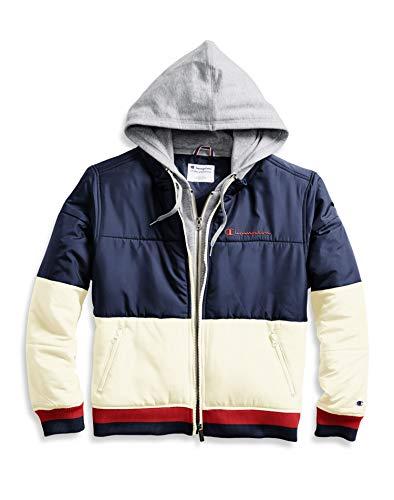 Champion Stadium Puffer Jacket Athletic Navy/Chalk White XL