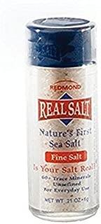 Redmond Real Sea Salt - Natural Unrefined Organic Gluten Free Fine, 0.21 Ounce Pocket Shaker (4 Pack)