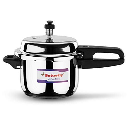 Butterfly BL-3L Blue Line Stainless Steel Pressure Cooker, 3-Liter