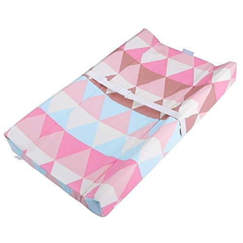 Windel-Wechsel Krippe Wickeltisch wasserdicht Windel-ändernde Auflage-Abdeckung, bewegliche Wickelauflage for Säugling Faltbare Babybett (Color : Pink)