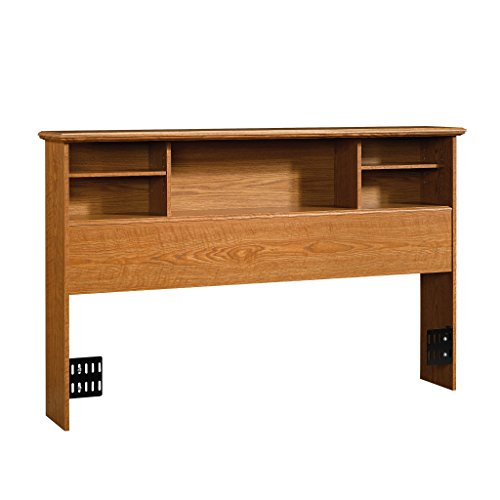 Sauder Orchard Hills Full/Queen Bookcase Headboard, Carolina Oak finish