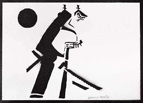 Samurai Jack Poster Plakat Handmade Graffiti Street Art - Artwork