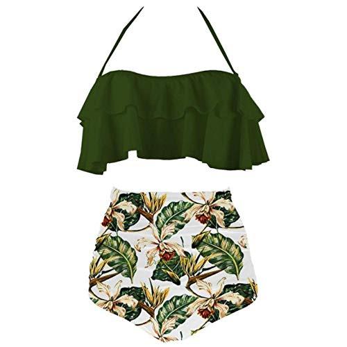 Empty Bikinis Traje de baño para Mujer Traje de baño de Cintura...