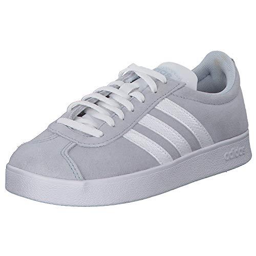 adidas VL Court 2.0 Sneaker in Übergrößen Grau F35130 große Damenschuhe, Größe:42