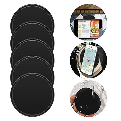 My Way Fixate Sticky Gel Pad (5-Pack) Anti-Slip Gel Pads to Stick on Car Dashboard, Glass, Mirrors, Metal, Tile Walls, Kitchen Cabinets Strong & Reusable