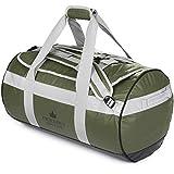 The Friendly Swede Wasserfeste Reisetasche Duffle Bag Rucksack - 30L / 60L / 90L - Seesack, Sporttasche Duffel Dry Bag mit Rucksackfunktion - SANDHAMN (Grün, 60L)