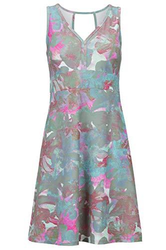 Marmot Wm's Becca Dress Robe mi Longue été, avec Bretelles, Protection UV, Respirante, séchage Rapide Femme, Sienna Red Floral Camo, FR : M (Taille Fabricant : M)