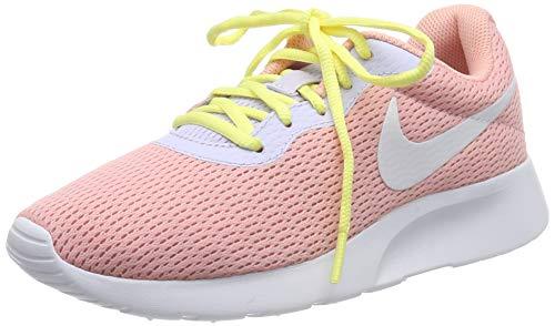 Nike Damen Tanjun Laufschuhe, Pink (Bleached Coral/White/Amethyst Tint/Lt Aqua/Luminous Green 608), 41 EU