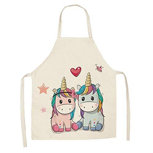 GLBS Eltern-Kind-Küche-Karikatur-Muster Einhorn Erwachsene Malerei Kinderschürze Kochen Haushalt Reinigungs-Tools Zurück-Bügel-Entwurf Kinder Smock (Color : 10, Size : Adult)