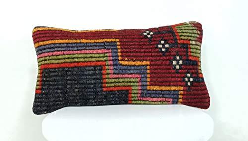 kelim kissen kissenbezüge 20x40 cm handgefertigt kelim teppich kopfkissen viereckig dekorative kissenhülle dekokissen sofakissen zierkissen code A207