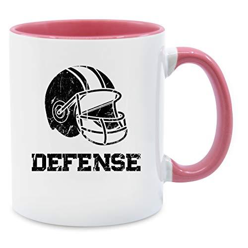Tasse Hobby - Defense Football - Vintage - Unisize - Rosa - Sport - Q9061 - Tasse für Kaffee oder Tee