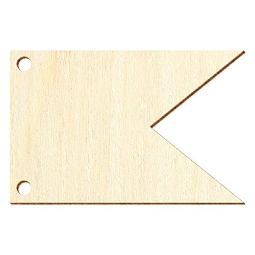 Banderines de madera V4 – Manualidades decorativas 5 – 50 cm, paquete con 10 unidades, ancho: 40 cm