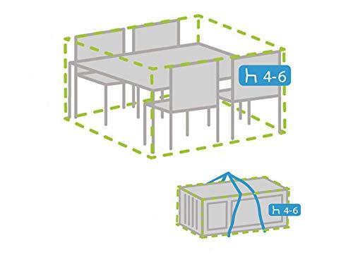 Housse de protection résistante aux intempéries pour meubles de jardin 185 x 150 cm + housse pour 4-6 coussins