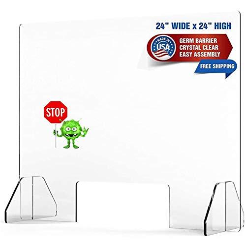 NXW Schutzschild Nieschutzplatte Für Theke Und Schreibtisch, Plexiglasbarriere, Klarer Acrylschild Für Geschäfts- Und Kundensicherheit, Durchgangs-Transaktionsfenster,Customized 1㎡