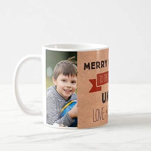 N\A Taza Divertida de café o té, Taza de Navidad con Foto de Papel Kraft, Regalar o coleccionar, Tazas de café de 11 oz
