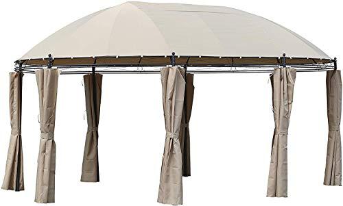 Pure Home & Garden XXL Luxus Pavillon Vigo 530x350 cm, inkl. Aller Seitenteile