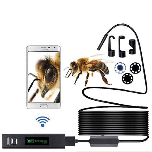 Lychee WiFi Endoscopio Wireless Impermeabile IP68 Telecamera Ispezione, 8 LED Luminosità Regolabile, 2.0 Megapixel 1200P HD Full Snake Camera per Android e iOS iPhone/Windows/Mac/PC (10M)