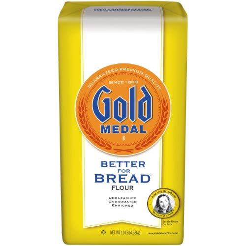 Gold Medal Unbleached Better for Bread Flour (Pack of 4)