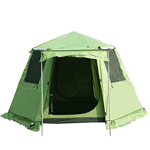 VATHJ Outdoor-Doppelschicht-Super-Hochzelt 3-4 Personen sechseckigen automatischen Zelt