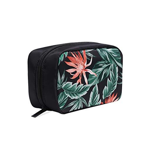 Sac à outils de voyage Fleurs tropicales Jungle Leaves Bird Paradise Womans Sacs Sacs de mode mignons