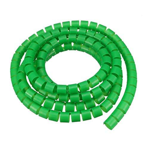 N/A - Cavo Flessibile a Spirale per Computer Portatile, 14 x 16 mm, 2 Metri, Colore: Verde