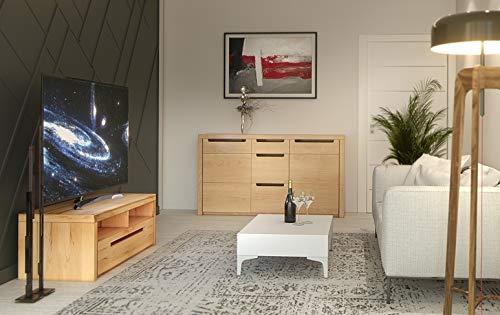 trendteam ZO31665 TV Möbel Lowboard, BxHxT 123 x 43 x 50 cm, Korpus Kernbuche Nachbildung und Fronten in Kernbuche massiv - 5