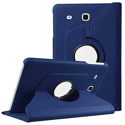 QiuKui Tab Cover For Samsung Galaxy Tab A A6 7.0 2016 SM-T280 T285, 360 Rotation Case 360 Smart PU Leather Cover for Samsung T280 T285 (Color : Navy Blue)