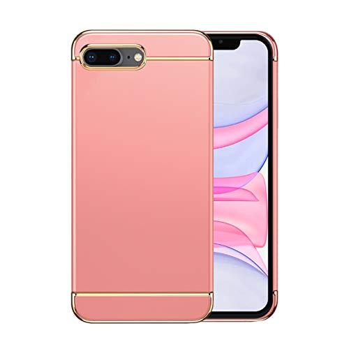Funda iPhone 8/8 Plus Apple Case,Fundas iPhone 8/8 Plus Antigolpes Carcasa Diseño Minimalista Estuche Rígido Ultra Original Delgado de PC a Prueba (iPhone 8 Plus, Oro Rosa)