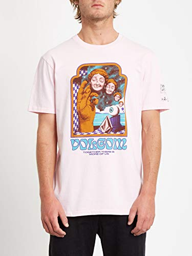 Volcom Herren Max Loeffler FA SS Kurzärmeliges T-Shirt, Schneerosa, L