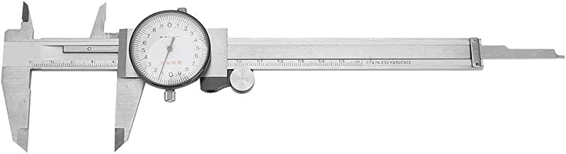 Dial Vernier Caliper, 0-150mm Vernier Caliper Gauge, Vernier Measure Tool Made of Stainless Steel for Measuring Outside Diameter, Inside Diameter, Hole Depth and Step Size(0-150mm 0.02mm)