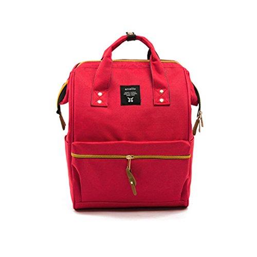 Bolsas de Pañales de Mamá de Gran Capacidad de Cuidado Multifuncional Bolsa de Cámara de Leche Materna de Parto para Bebà Mochila Portátil Momma Mochila BB6004 Red