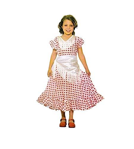 Disfraz Sevillana. Niña. Talla 4/6. Contiene: Vestido y pañuelo.