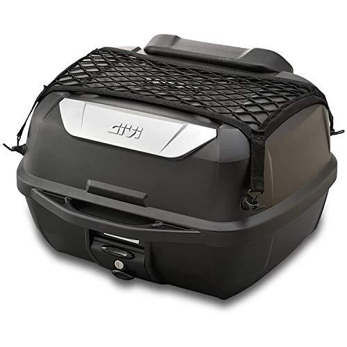 GIVI (ジビ) バイク用 リアボックス 43L 未塗装ブラック モノロックケース オプション付き(インナーボトムマット/バックレスト/ネットフック) E43NTL-ADV 95342