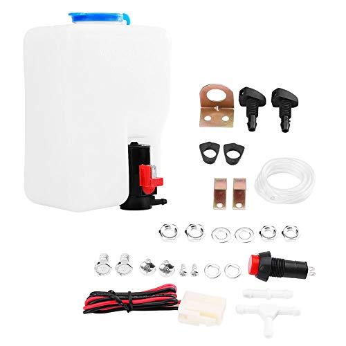 SOONHUA Universal Scheibenwaschpumpe Flasche Windschutzscheibe Scheibenwaschanlage Pumpe Flasche Tank Kit Reinigungswerkzeuge 12 V für Oldtimer