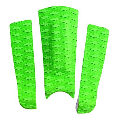 ZSR-haohai 3 unids Premium EVA Anti-Skid Surfing Pad Pad Pad Pad Mazo de la Cubierta Grip para la Tabla de Surf Kiteboard Paddleboard Surfing Accesorios (Color : Green)